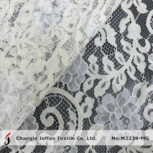 French Lace Wedding Dress Lace Fabric (M2229-MG) pictures & photos