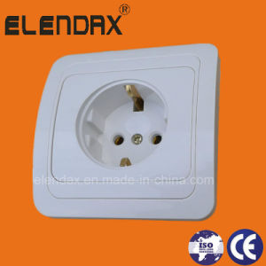 Euro Style Flush Mounting 2 Pin Wall Power Socket (F2010) pictures & photos