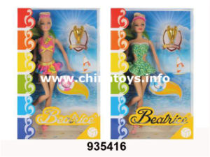 "Promotion Plastic Toys 11""Solid Doll (2ASS) (935416) pictures & photos"
