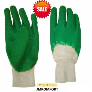 Green Hand Work Glove Latex Coated (JMC-381D) pictures & photos