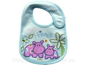 Personalized Applique Cotton Baby Bibs (RCB-015)