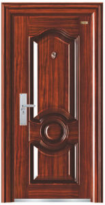 Walnut Colour Deep Embossing Steel Security Door pictures & photos