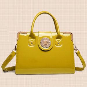 Lady Russian Style PU Leather Beaded Handbag (XD140030)