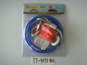 4ton Tow Wire Rope with Forged Hooks