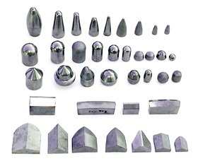 Differents Types of Tungsten Carbide Mining Tips in Blank pictures & photos