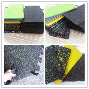 Rubber Gym Flooring Interlocking in Piece/ in Roll pictures & photos