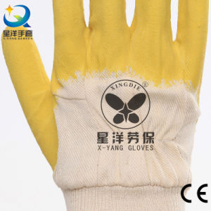 Jersey Liner Latex 3/4 Coated Work Gloves pictures & photos