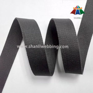 25mm Grey-Black Flat Cotton Webbing pictures & photos