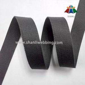 25mm Grey-Black Flat Cotton Webbing pictures & photos