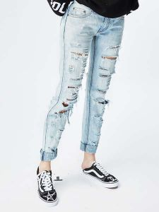 Good Quality Fitness New Fashion Design Women Jeans pictures & photos