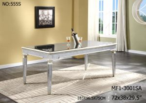 Modern Rectangle Dining Table with Antique Mirror pictures & photos