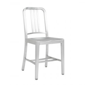 Aluminum Navy Dining Chair