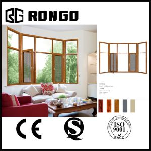Rongo Aluminum Bay Window with Double Glazing and Sst Mesh pictures & photos