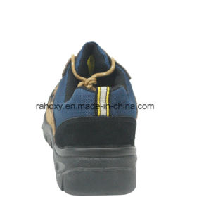 Grey and Black Suede Professional Low-Cut Safety Shoe (HQ01020) pictures & photos