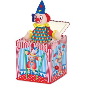 Customized Lovely Cartoon Plush Jack in The Box Music Tin Box pictures & photos