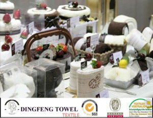 New Season 100% Cotton Cake Gift Towel Sets pictures & photos