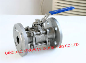 Stainless Steel 3PC Flanged Ball Valve,
