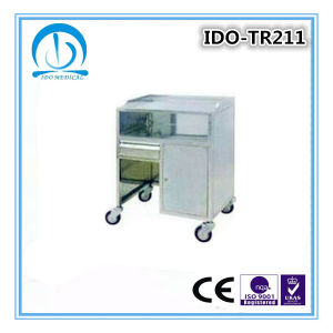 Cheap High Quality Stainless Steel Hospital Anesthesia Trolley pictures & photos