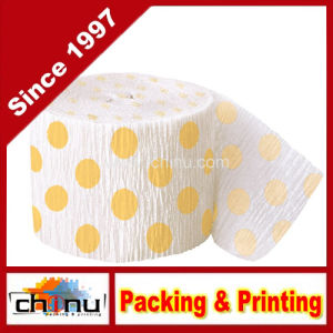 Yellow Polka DOT Crepe Paper Streamer (420050) pictures & photos