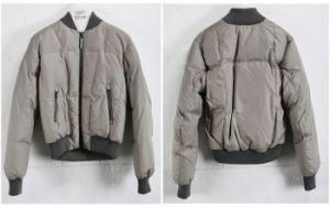 Stand Collar Men′s Zipper Down Jacket/Overcoat (W7)