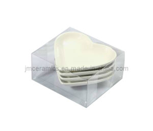 Heart Shape Sala Plate with PVC Box pictures & photos