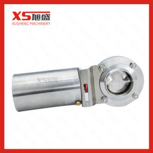 Single or Double Action Sanitary Stainless Steel Butterfly Valve pictures & photos