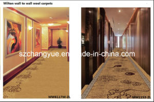 Machine Woven Wilton Wall to Wall Wool Hotel Carpets for Corridors pictures & photos