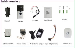 High Quality Home Protection WiFi Doorbell with Remote Moniton pictures & photos