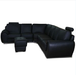 American Style Leather Sectional Sofa (Jfc-7)