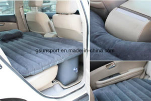 PVC Inflatable Flocked Car Air Mattress for Travelling pictures & photos