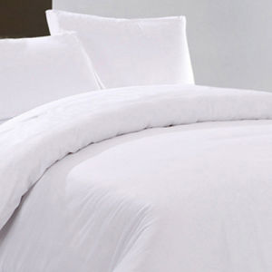 Cotton Hotel Bedding Set (BE-004) Manufacturer White Bed Sheet pictures & photos
