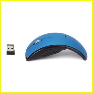 Fashion Blue Mini Foldable USB Wireless Gift Mouse