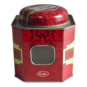 Octagon Tea Tin Box (YX0018)