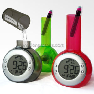 Patented Eco Friendly Multi Functions Water Power Alarm Clock pictures & photos