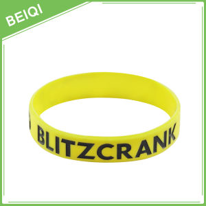 High Quality Custom Debossed Colorfilled Silicone Wristband pictures & photos