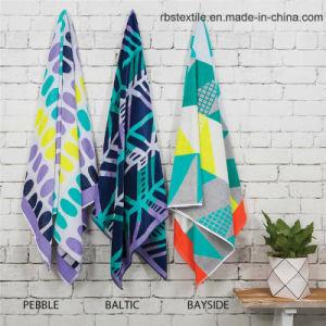 Promotional Microfiber Jacquard Beach Towel pictures & photos