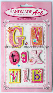 Glittered 3D Stickers/Dimensional Stickers/Handmade Stickers for Scrapbooking and Card Making pictures & photos
