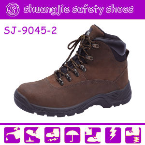 Crazy Horse Leather Safety Shoes with Steel Toe (NO. 9045-2)