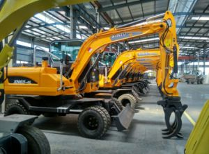 5ton 6ton 8ton 10ton 12ton Wheel Excavator for Sale with After Sale Service in China in Asia pictures & photos