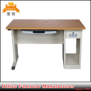 Steel Frame MDF Top Office Desk with CPU Holder pictures & photos