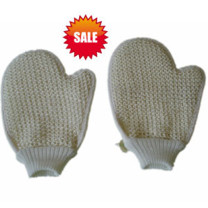 SPA Body Exfoliating Scrubber Sisal Bath Glove (KLB-125) pictures & photos