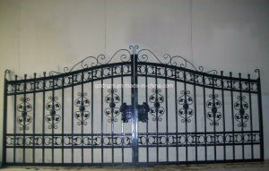 Wrought Iron Gate and Gate Componenets Motordriven Gate pictures & photos