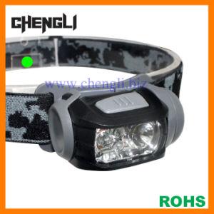 Chengli Samll 90lumens 1 CREE LED+3 Red LED Head Lamp with 3PCS AAA Size Battery (LA1231)