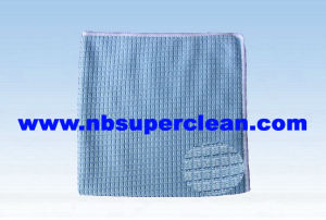 Microfiber Weft Knitting Cleaning Towel for Car, Kitchen and Bathroom (CN3606) pictures & photos