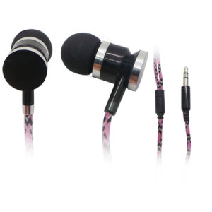 Fabric Cable/Metal Earphone for MP3/Mobile Phone pictures & photos
