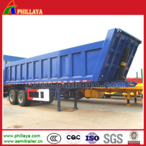 2 Axles Hydraulic Cylinder Semi Rear Tipper Trailer pictures & photos