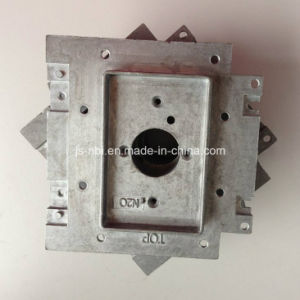 Raw Zinc Alloy Casting Wall Backplate Without Surface Treatment for Medical Gas Processing Equipment pictures & photos