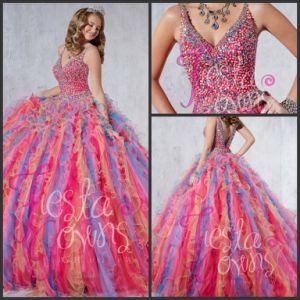 Multi Colors Quinceanear Dress Puffy Prom Ball Gown Ld11516 pictures & photos