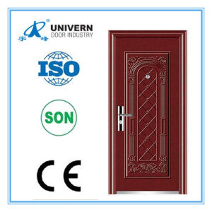 Beautiful Design and Hight Quality Single Leaf Steel Doors (YF-S136) pictures & photos