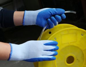 Industrial Safety Working Latex Coated Glove with Nylon or Cotton Liner and Crinkle Finish pictures & photos
